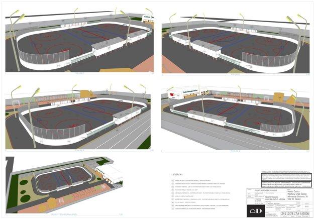 Projekt hokejbalového štadiónu v Čadci.