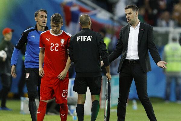 FIFA vyšetruje aj trénera Srbska Mladena Krstajiča (vpravo).