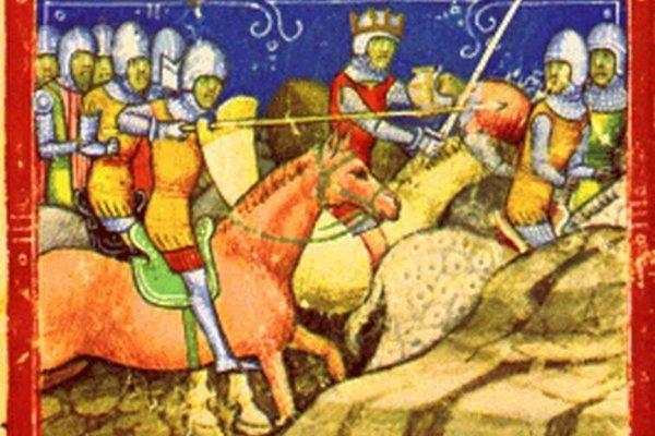 Belo IV. v boji s Přemyslom  Otakarom ll. podľa Chronicum Pictum