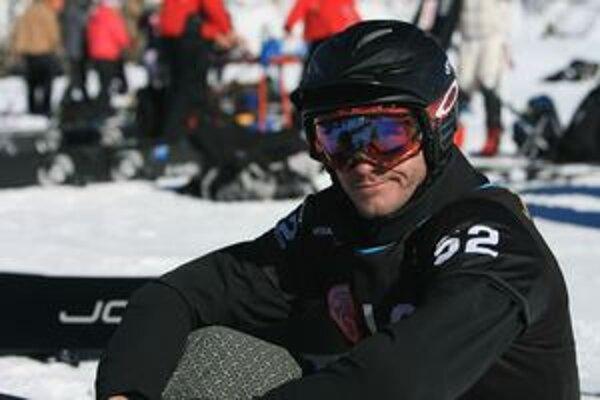 Slovenský snoubordista Radoslav Židek na pretekoch Svetového pohára v americkom stredisku Telluride 15. decembra 2009.