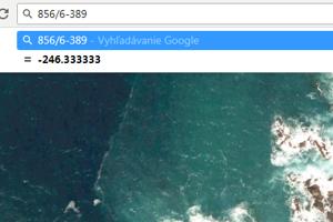 Ak používate prehliadač Google Chrome, výsledok príkladu uvidíte hneď po zadaní do adresového riadku. nemusíte ani stláčať tlačidlo enter.