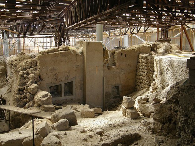 Archeologické múueum Akrotiri, Santorini.