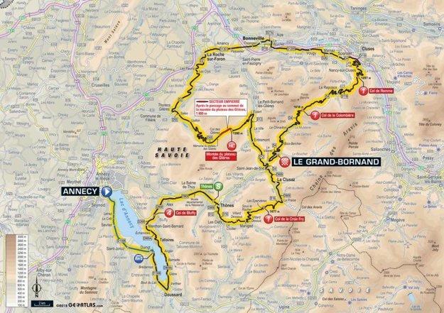 Mapa 10. etapy Tour de France 2018