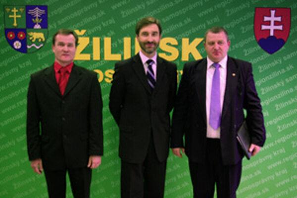 Zľava: Ján Barienčík, Juraj Blanár, František Posluch.
