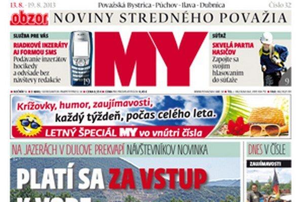 Nové číslo MY Noviny stredného Považia dostanete v stánkoch a predajniach.