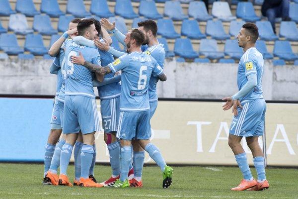 Futbalisti ŠK Slovan Bratislava, ilustračná fotografia.