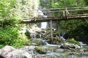 Starý most pod Kmeťovými vodopádmi.