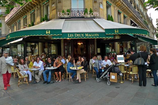 kaviareň Les Deux Magots (Saint Germain, Fr.)