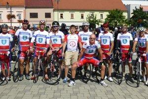 Cyklisti z CTK Topoľčany.