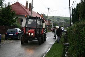 Prívalové dažde spôsobujú v Bystranoch problémy