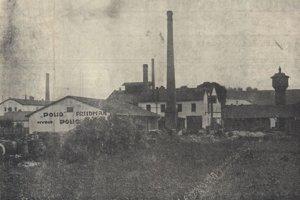 Továreň na mydlo Polio, fotografia z roku 1932.