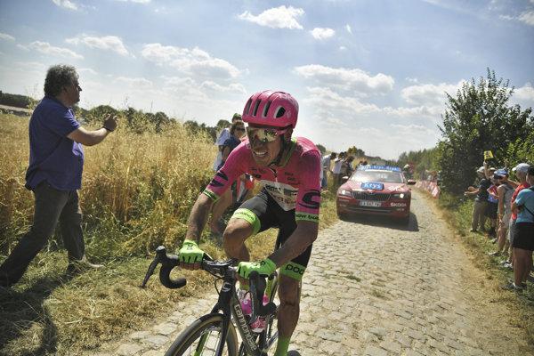 Rigoberto Uran doplatil na ťažkú 9. etapu na Tour de France 2018.