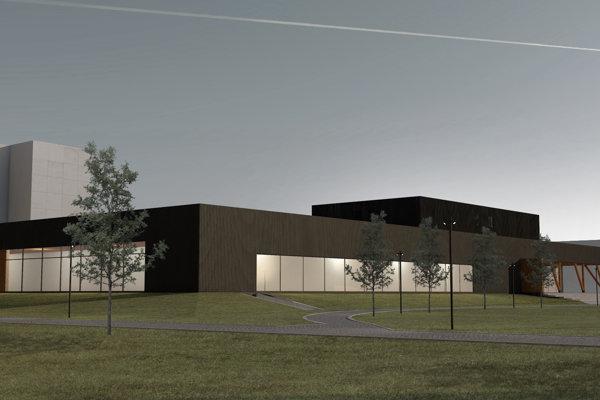 Návrh novej basketbalovej haly, ktorá by mala vyrásť vPoprade.