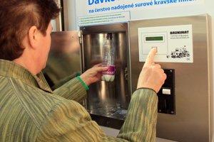 Automat na mlieko.