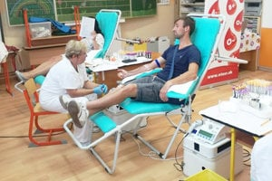 Odber krvi v Tuchyni.