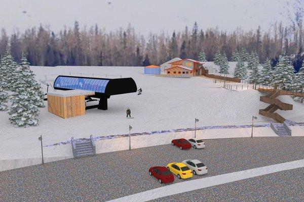 Vizualizácia obnoveného strediska Jamy.