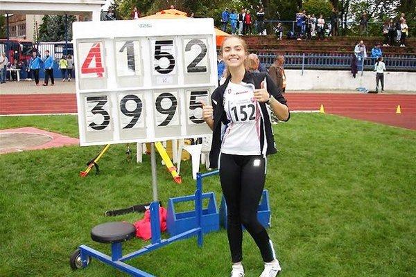 Daniela Vojtasová zvíťazila v novom osobnom rekorde.