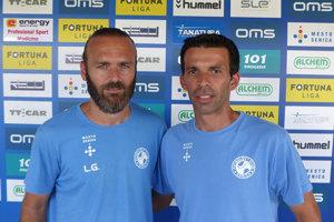 Frederico Ricardo (vpravo) povedie Senicu v tejto sezóne ako hlavný tréner.