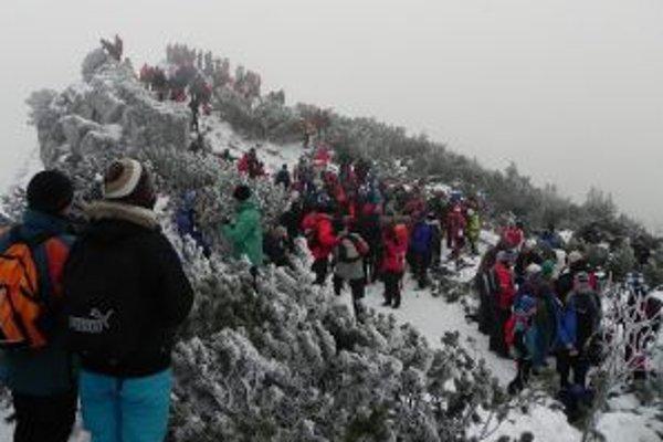 Na Choč na Silvestra vystúpilo viac ako 1500 ľudí.