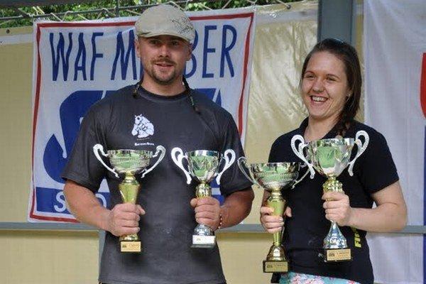 Peter Kasan a majsterka Slovenska Andrea Kušnieriková.