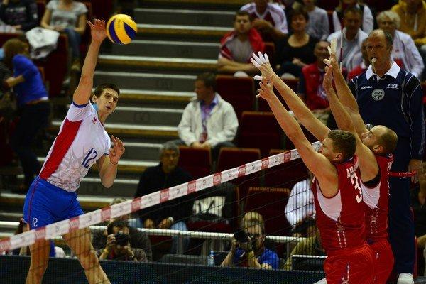 Na smeči to mal Matej Paták proti olympijským víťazom z Ruska veľmi ťažké.