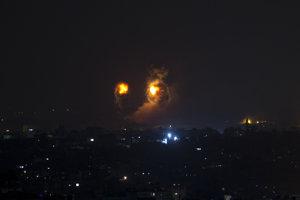 Odpálenie rakiet v Gaze.