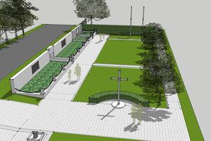 Vizualizácia cintorína po rekonštrukcií.