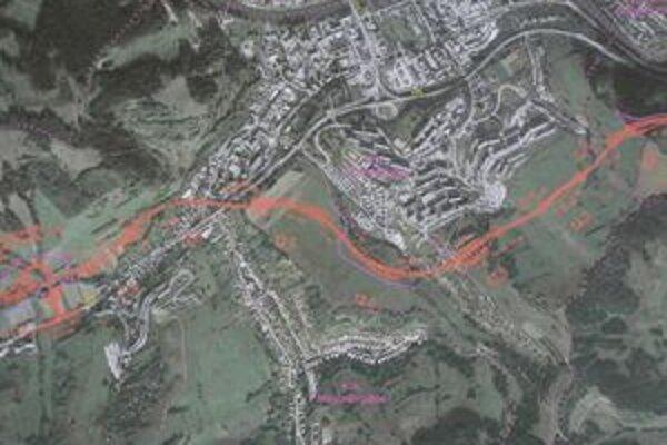 Podľa zástancov červenej trasy sa rýchlostná cesta dotkne obytných častí len minimálne. Ďalším argumentom pre je jej menšia finančná aj technická náročnosť.