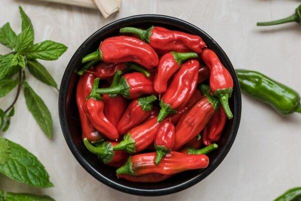 Chilli papričky.