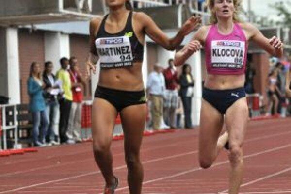 Lucia Klocová (vpravo) prekonala dlhoročný slovenský rekord na 1000 metrov.