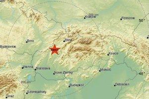 Epicentrum zemetrasenia bolo pri Trenčianskych Tepliciach.