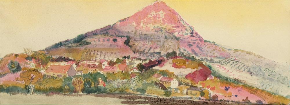 Emil Filla: Lovoš – Režný Újezd. 1949. Galerie hlavního města Prahy
