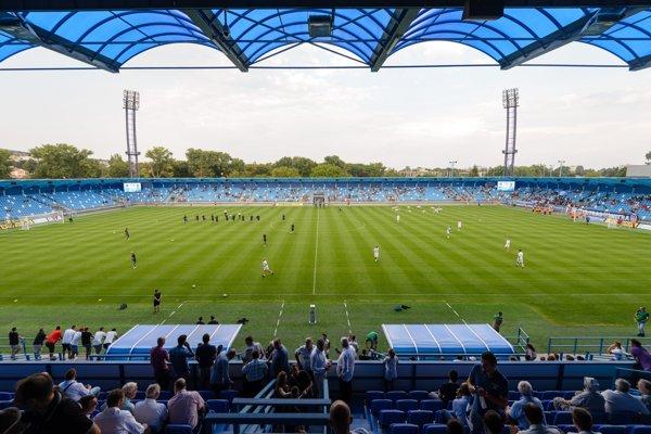 Vynovený štadión v Nitre, ilustračná snímka.