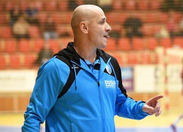 Tréner omladeného šalianskeho kolektívu Michal Lukačín.