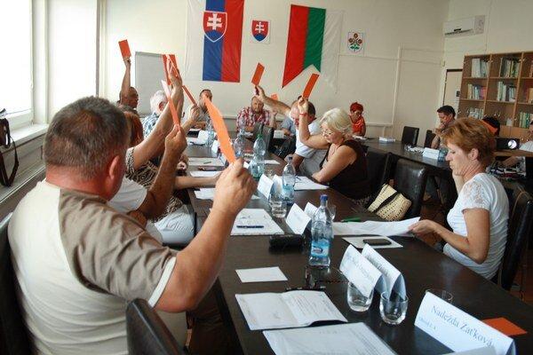 Zasadnutie zastupiteľstva v Bánovciach nad Bebravou.