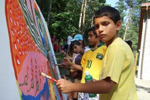Deti vytvorili Mandalu.