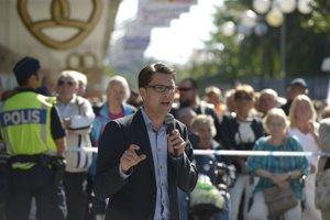 Líder Švédskych demokratov Jimmie Akesson.