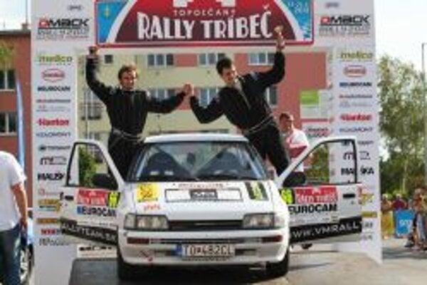 Michalec a Vrábel na Rally Tribeč.