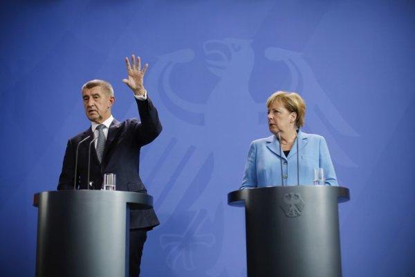 Český premiér Andrej Babiš a nemecká kancelárkaa Angela Merkelová.
