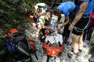 Zásah Horskej záchrannej služby v Suchej Belej.