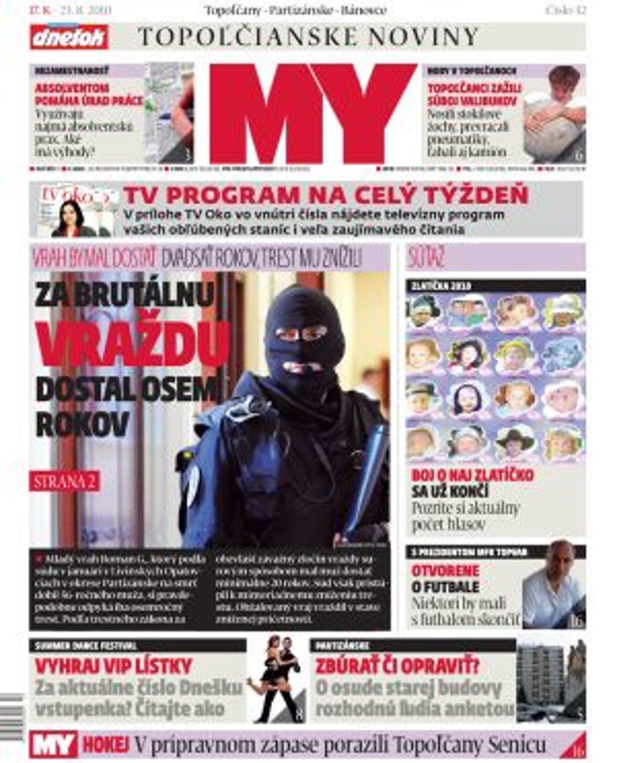 3023703dd Najnovšie číslo MY Topoľčianske noviny Dnešok vychádza v utorok ...