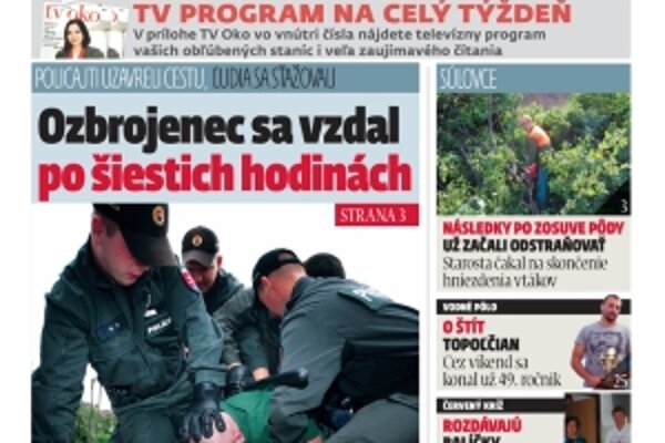 Nájdete nás v redakcii na námestí M.R. Štefánika 5 v Topoľčanoch.