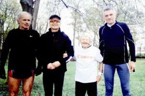 Počas pretekov Topoľčianskej bežeckej ligy.