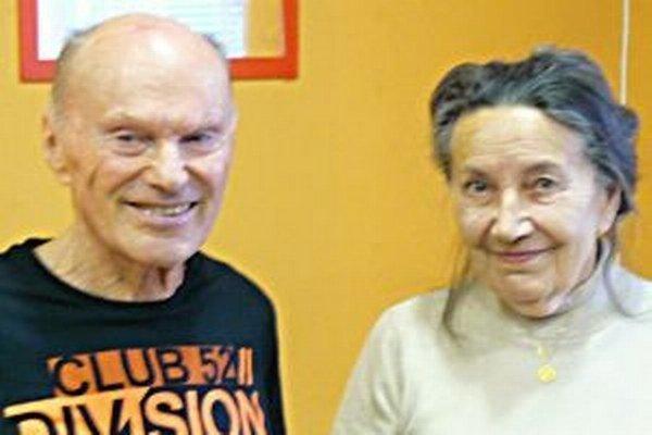 Najstarší Turčianski raci - 87-ročná Magdaléna Šteinerová a 77-ročný Milan Schwendt.
