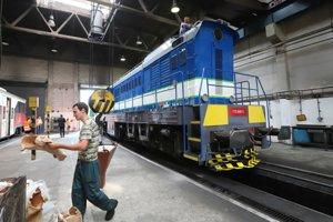 Zrekonštruovaná lokomotíva z dielne ŽOS Zvolen.
