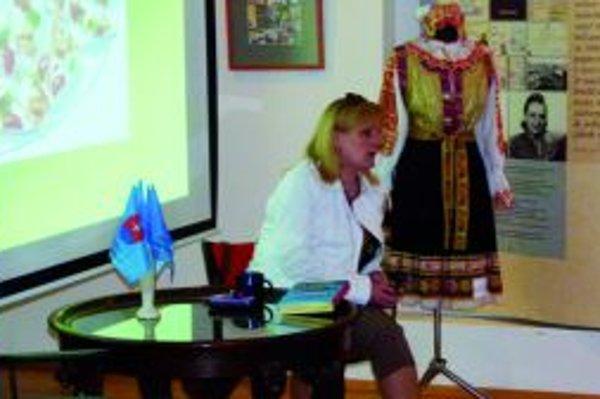 Zora Mintalová-Zubercová prednášala na tému Turčianska kuchyňa.