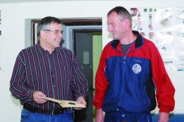 Tréner Ivan Némethy (vľavo) a Pavol Kopp.
