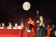 Akademický rok otvoril rektor Prešovskej univerzity Peter Kónya.
