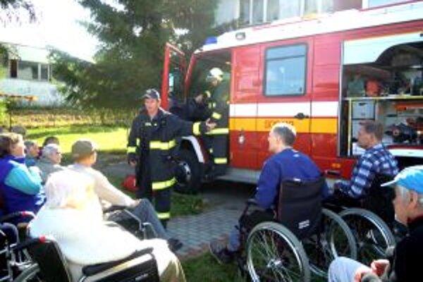 Ukážka hasičskej techniky.
