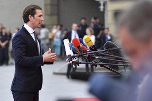 Rakúsky kancelár Sebastian Kurz na summite v Salzburgu.